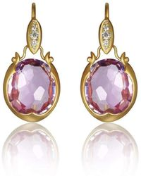 Anahita Jewelry - 18kt Gold Gemstone Drop Earrings - Lyst