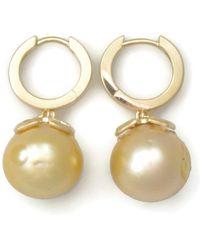 Donna Pizarro Designs - 14kt Baroque Golden South Sea Earrings - Lyst