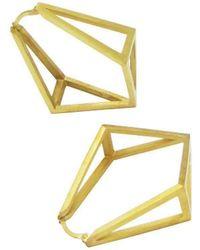 Stephanie Bates - Inverted Kite Hoop Earrings - Lyst