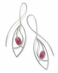 Janice Zethraeus - Silver Ruby Frond Earring - Lyst