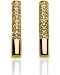 Xavier Civera - Rose Gold Effortless Diamond Earrings - Lyst