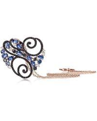 Pinomanna - Rose Gold, Diamond & Sapphire Ramage Collection Necklace | - Lyst