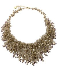 Elisa Ilana Jewelry - Yellow Gold, Smoky Quartz & Amethyst Necklace | - Lyst