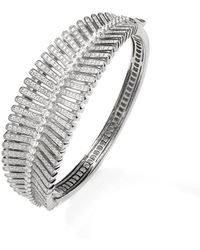 Lustre of London   White Feather Bangle   Lyst