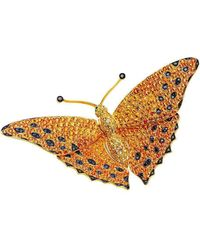 Pinomanna - Natural Chic Butterfly Necklace - Yellow Gold - Lyst