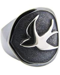 Luke Goldsmith - Silver Mens Identity Peacekeeper Ring - Lyst