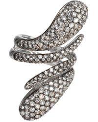 Dada Arrigoni Jewelry - Elika Pave Double Ring - Lyst