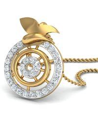 Diamoire Jewels - Nature Inspired 18kt Yellow Gold Designer Diamond Pendant - Lyst