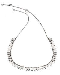 Chavin Couture - Silver Large Leaf Necklace - Lyst