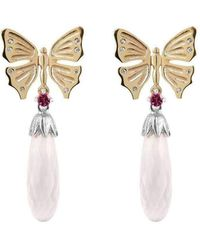 Luke Goldsmith - Butterfly And Rose Quartz Drops - Lyst