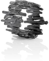 Aurum By Gudbjorg - Cygnus 404 Oxidised Ring - Lyst