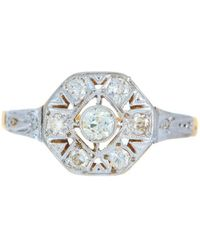 Alexis Danielle Jewelry - Art Deco Platinum 18kt Yellow Gold Diamond Ring - Lyst