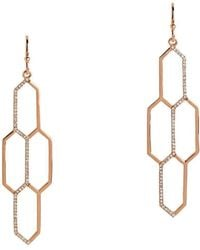Bridget King Jewelry - Diamond Rose Honeycomb Earrings - Lyst