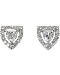 Ri Noor - Shield Solitaire Diamond Stud Earrings - Lyst
