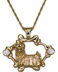 Diamoire Jewels Verdant 18Kt Rose Gold Diamond Pendant 3FeUk