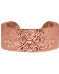 Murkani Jewellery - Heavenly Cuff Bangle In Rose Gold Plate - Lyst