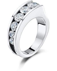 Becky Rowe - Silver Cubic Zirconia Multi-stone Ring - Lyst