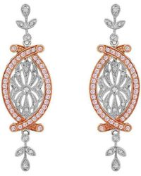 """Dallas Prince Designs - Vintage """"pink And White"""" Diamond Earrings - Lyst"""