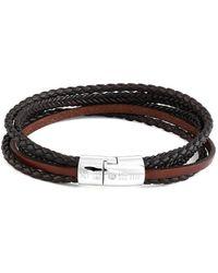 Tateossian - Multi-strand Cobra Bracelet In Leather - Brown - Lyst
