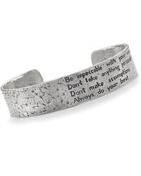 House of Alaia - Four Agreements Reminder Cuff In Silver Small - Lyst