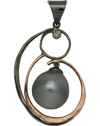 Lainey Papageorge Designs - Blue Diamond Spiral Pendant - Lyst