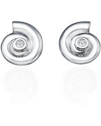 Ayalla Joseph - Shells Earrings White Gold - Lyst