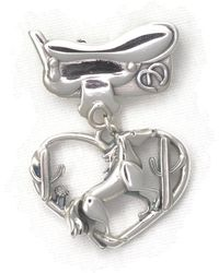 Donna Pizarro Designs - Sterling Silver Horse Brooch With Saddle And Desert Cactus - Lyst