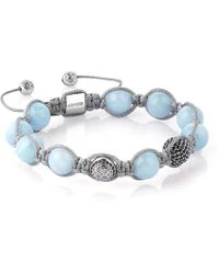 Atolyestone London - Aquamarine Macrame Bracelet - Lyst