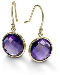BCOUTURE - Single Purple Amethyst Drop Earrings - Lyst
