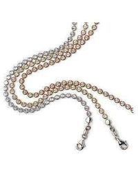 Virtue London - Diamond Cut Mini Disc Necklace - Lyst