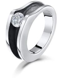 Becky Rowe - Sterling Silver & Cubic Zirconia Ring   - Lyst