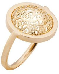 Amazona Secrets - 18kt Gold Savannah Leaf Hoop Ring - Lyst
