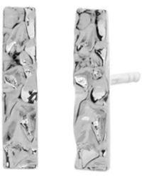 Asa Iceland - White Frost Studded Earrings - Lyst