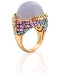 Niquesa Fine Jewellery - Venice Zanni Chalcedony Ring - Lyst