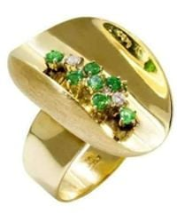 Daou Jewellery - Ellipse Emerald And Diamond Ring - Lyst
