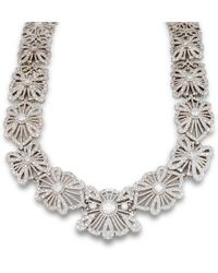 Katherine LeGrand Custom Goldsmith - White Gold & Diamond Lace Collar Necklace   Katherine Legrand - Lyst