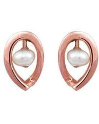 September Rose - 9kt Rose Gold Maia Earrings Down - Lyst