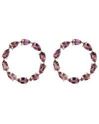 Emily Mortimer Jewellery - Aqua Amethyst Circle Earrings - Lyst