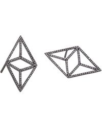 Bridget King Jewelry - Diamond Black Kite Earrings - Lyst