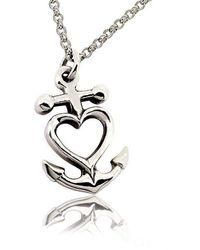 deVos Jewellery - Anchor Heart Pendant - Lyst