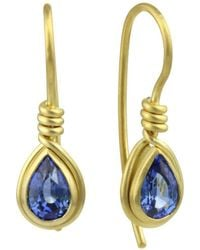 Prism Design - 9kt Gold Sapphire Earrings - Lyst