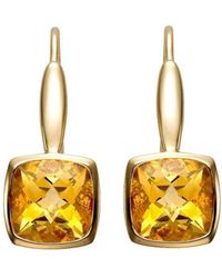 Isaac Westman - Yellow Gold Citrine Earrings - Lyst