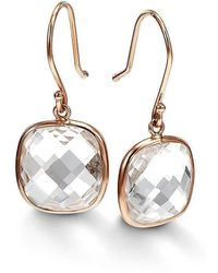 BCOUTURE - Single White Topaz Drop Earrings - Lyst