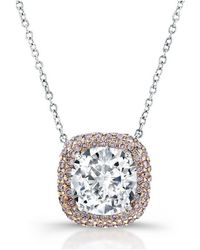 Harry Kotlar - Kotlar Cushion Diamond Solitaire Arabesque Necklace - Lyst