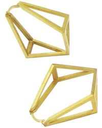 Stephanie Bates - Inverted Kite Hoop Earrings - Lyst