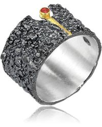 Apostolos Jewellery - The Earth Song 6 Oxidised Silver Ring - Lyst