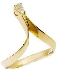 Daou Jewellery - Photon Ring - Champagne Diamond - Lyst