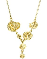 Joseph Lamsin Jewellery - Jelly Fish Gold Vermeil Drop Necklace - Lyst