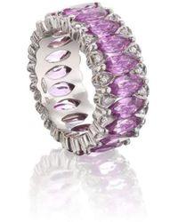 Niquesa Fine Jewellery - Amore Pink Sapphire Eternity Band - Lyst