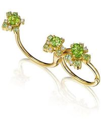 Madstone Design - Peridot Melting Ice Convertible Single-double Ring - Lyst